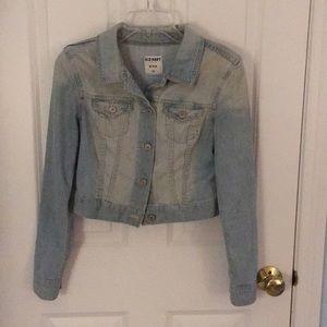 Old Navy cropped jean jacket!